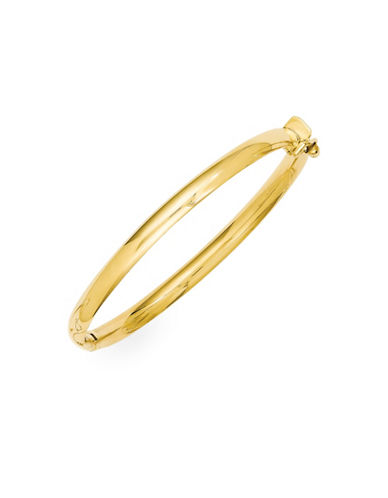 Fine Jewellery 14k Yellow Gold Hinged Baby Bangle-GOLD-One Size