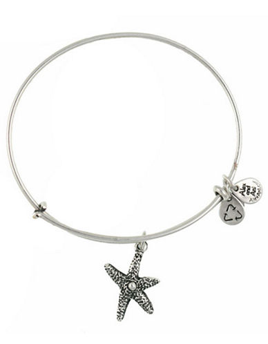 Alex And Ani Starfish Charm Bangle-SILVER-One Size