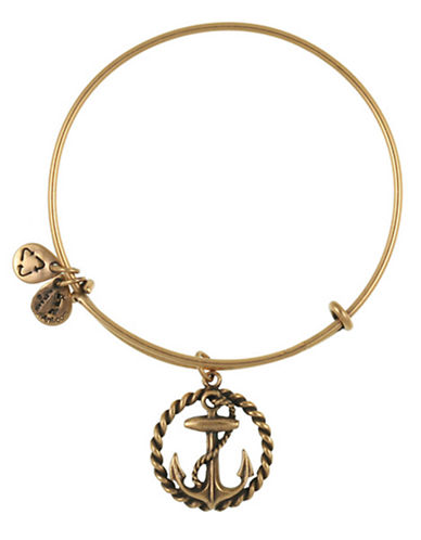 Alex And Ani Nautical Charm Bangle-GOLD-One Size