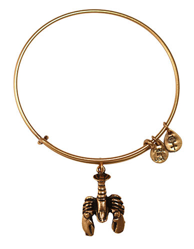 Alex And Ani Lobster Charm Bangle-GOLD-One Size