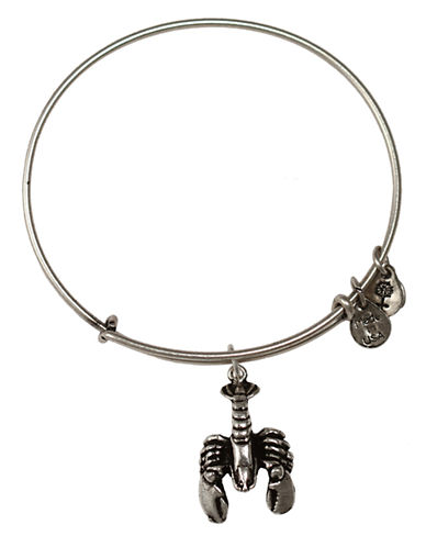 Alex And Ani Lobster Charm Bangle-SILVER-One Size