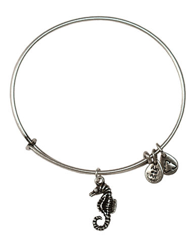 Alex And Ani Seahorse Charm Bangle-SILVER-One Size