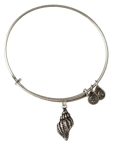 Alex And Ani Conch Charm Bangle-SILVER-One Size