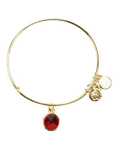 Alex And Ani July Birthstone Charm Bangle-GOLD-One Size