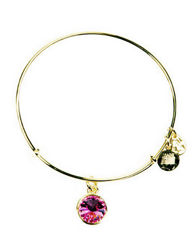 Alex And Ani October Birthstone Charm Bangle-GOLD-One Size