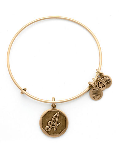 Alex And Ani Initial A Charm Bangle-GOLD-One Size