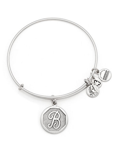 Alex And Ani Initial B Charm Bangle-SILVER-One Size