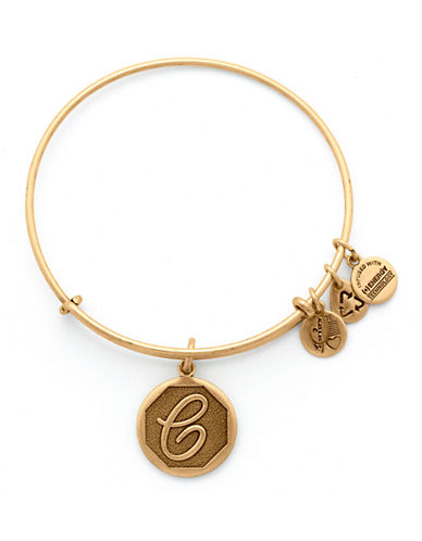 Alex And Ani Initial C Charm Bangle-GOLD-One Size