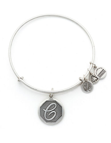Alex And Ani Initial C Charm Bangle-SILVER-One Size