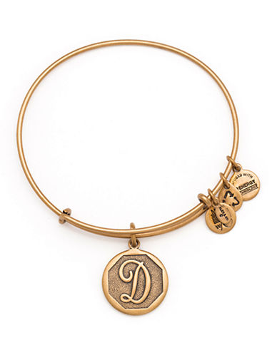 Alex And Ani Initial D Charm Bangle-GOLD-One Size