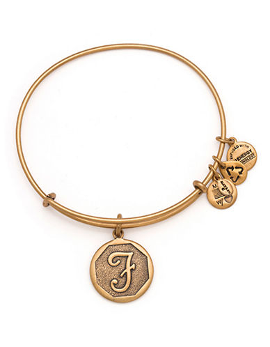 Alex And Ani Initial F Charm Bangle-GOLD-One Size