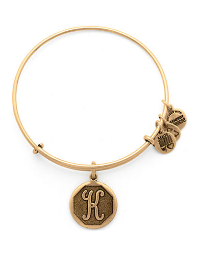 Alex And Ani Initial K Charm Bangle-GOLD-One Size