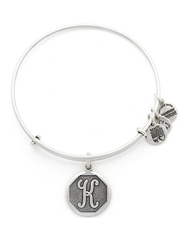 Alex And Ani Initial K Charm Bangle-SILVER-One Size