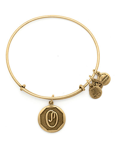 Alex And Ani Initial O Charm Bangle-GOLD-One Size