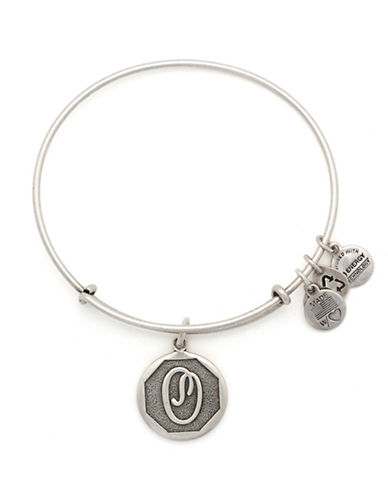 Alex And Ani Initial O Charm Bangle-SILVER-One Size