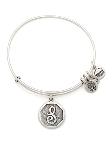 Alex And Ani Initial S Charm Bangle-SILVER-One Size