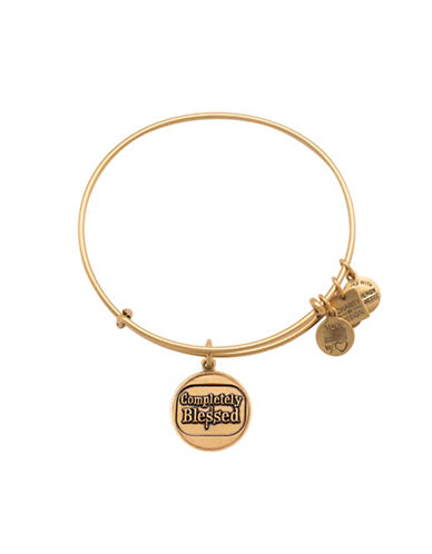 Alex And Ani Completely Blessed Charm Bangle Bracelet-GOLD-One Size