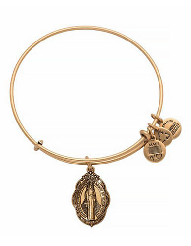 Alex And Ani Classics Collection Mother Mary Bangle-GOLD-One Size