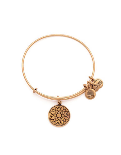 Alex And Ani New Beginnings Charm Bangle Bracelet-GOLD-One Size