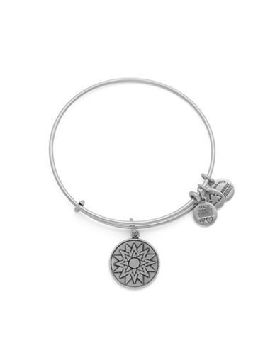 Alex And Ani New Beginnings Charm Bangle Bracelet-SILVER-One Size