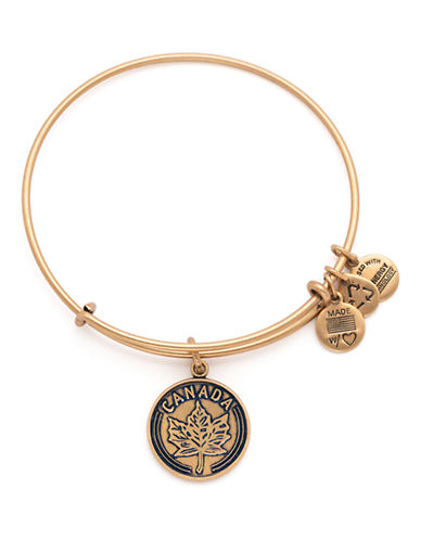 Alex And Ani Places We Love Canada Maple Leaf Bangle-GOLD-One Size