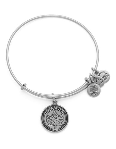 Alex And Ani Places We Love Canada Maple Leaf Bangle-SILVER-One Size