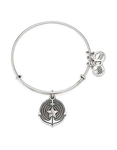 Image of Alex And Ani Anchor Charm Bangle Bracelet-SILVER-One Size
