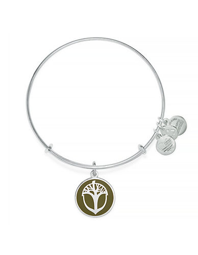 Image of Alex And Ani Acorn Charm Bracelet-SILVER-One Size