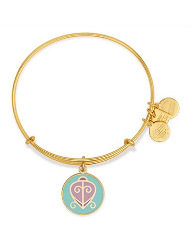 Alex And Ani The Way Home Charm Bracelet-GOLD-One Size
