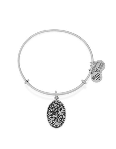 Alex And Ani Because I Love You Mom 24K Gold Flash Charm Bangle-SILVER-One Size