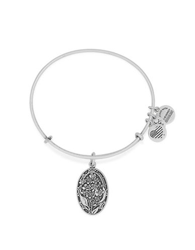 Alex And Ani Because I Love You Grandmother 24K Gold Flash Charm Bangle-SILVER-One Size