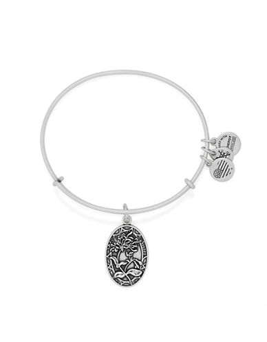 Alex And Ani Because I Love You Sister Charm Bangle-SILVER-One Size