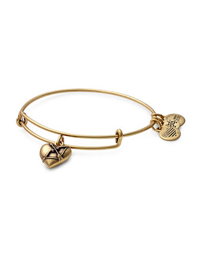 Alex And Ani Cupids Heart Charm Bracelet-GOLD-One Size