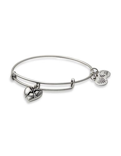 Alex And Ani Cupids Heart Charm Bracelet-SILVER-One Size