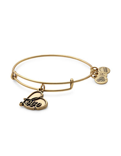 Alex And Ani Gold Flash Love Charm Bracelet-GOLD-One Size