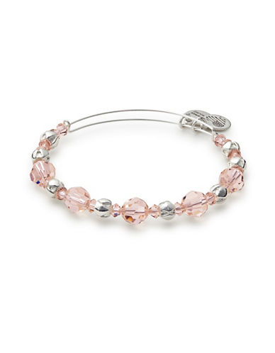 Alex And Ani Swarovski Crystal Bangle-PINK-One Size