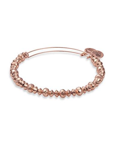 Alex And Ani Canyon Beaded Bangle Bracelet-ROSE GOLD-One Size