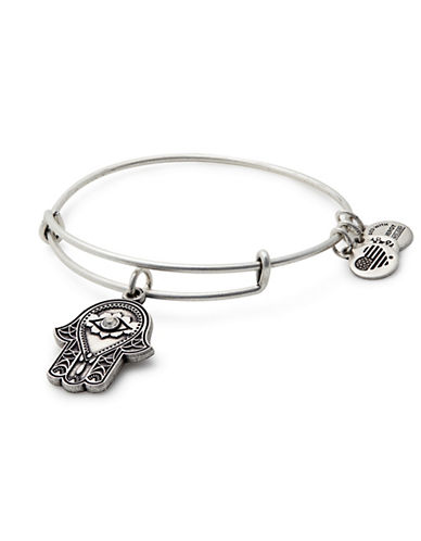 Alex And Ani Swarovski Crystal Silverplated Hand of Fatima Charm Expandable Bracelet-SILVER-One Size
