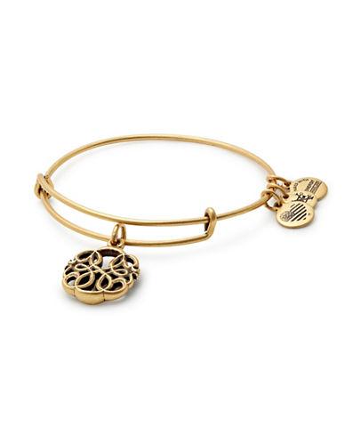 Alex And Ani Path of Life Goldtone Charm Bangle Bracelet-GOLD-One Size