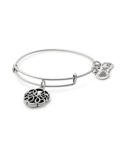 Alex And Ani Path of Life Silverplated Charm Bangle Bracelet-SILVER-One Size