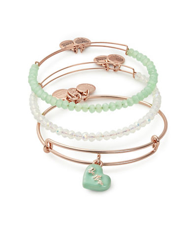 Alex And Ani Sweet Set Stacked Bracelet-ROSE GOLD-One Size