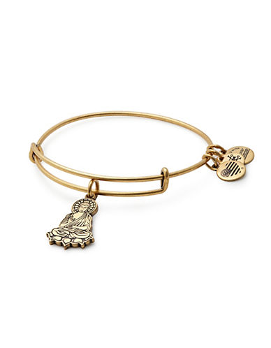 Alex And Ani Goldtone Buddha Charm Bangle-GOLD-One Size