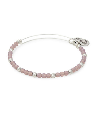 Alex And Ani Colour Classics Silverplated Violet Beaded Bangle Bracelet-PINK-One Size