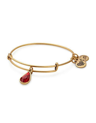 Alex And Ani January Birth Month Charm Bangle With Swarovski Crystal-GOLD-One Size