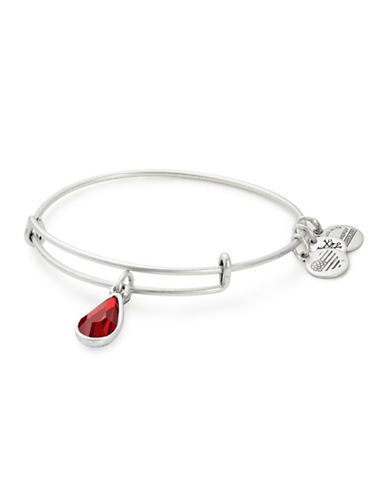 Alex And Ani January Birth Month Charm Bangle With Swarovski Crystal-SILVER-One Size