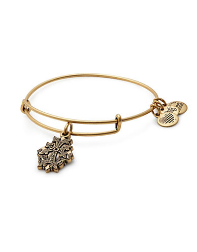 Alex And Ani Armenian Cross Charm Bangle Bracelet-GOLD-One Size
