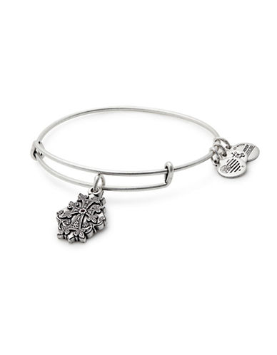Alex And Ani Armenian Cross Charm Bangle Bracelet-SILVER-One Size