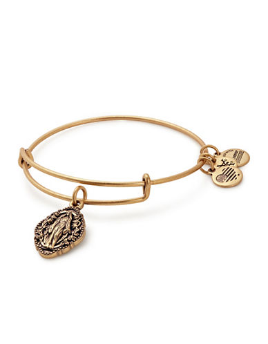 Alex And Ani Mother Mary Charm Bangle-GOLD-One Size