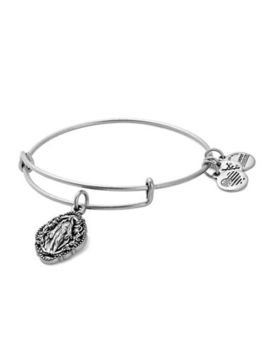 Alex And Ani Mother Mary Charm Bangle-SILVER-One Size