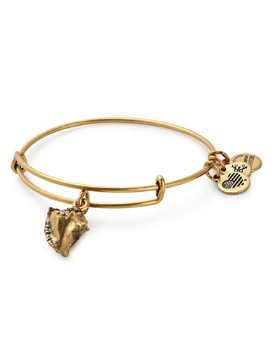 Alex And Ani Conch Shell Charm Bracelet-GOLD-One Size